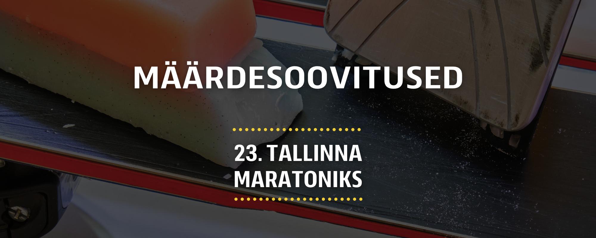 Skiwax Europe määrdesoovitused 23. Tallinna Maratoniks