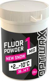 Optiwax  FluorPowder Mid 1 +2...-10°C, 25g